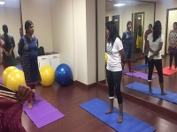 Antenatal Yoga Class, Kondapur - April 2016