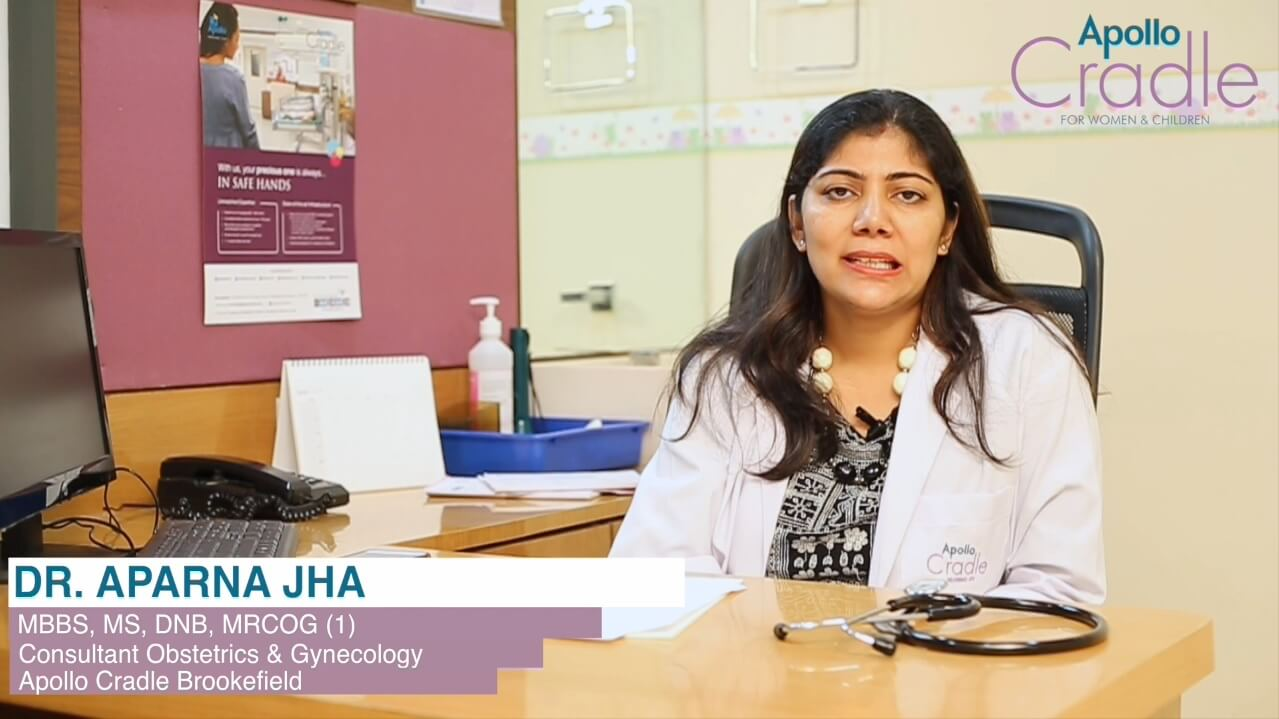 Dr. Aparna Jha, is a senior consultant at Apollo Cradle Brookefield